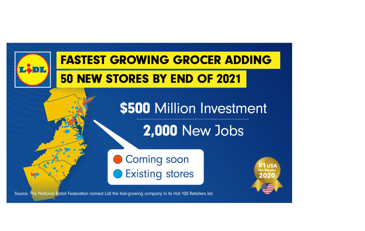 Lidl Opening 50 New Stores With 2 000 New Jobs By End Of 2021 Wral Com