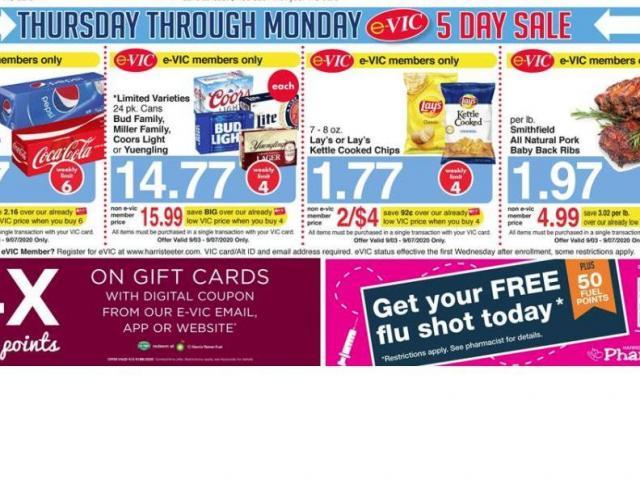 Harris_Teeter_9-2-20_5_day_sale-DMID1-5o222e07f-640x480 Harris Teeter 5-Day Sale Thursday through Sunday + new e-Vic deals - WRAL.com