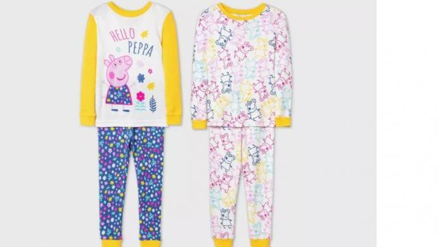 Toddler Girls' 4pc Peppa Pig Pajama Set (photo courtesy Target)