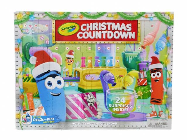 Crayola Christmas Countdown Calendar (photo courtesy Amazon)