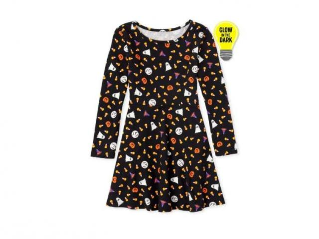 Girls Halloween Glow In the Dark Dress (photo courtesy The Chidren's Place)
