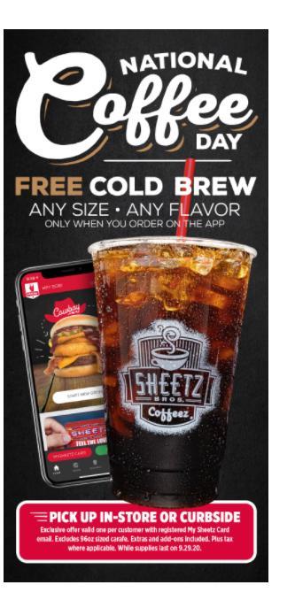 Sheetz Offer (photo courtesy Sheetz)
