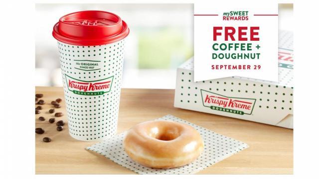 Krispy Kreme Offer (photo courtesy Krispy Kreme)