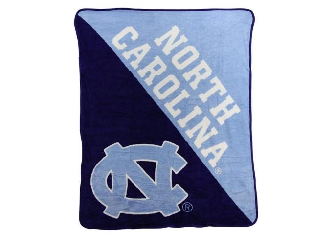 "Officially Licensed NCAA ""Halftone"" Micro Raschel Throw Blanket (photo courtesy Amazon)"