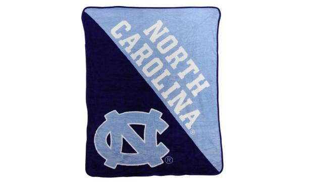 "Officially Licensed NCAA ""Halftone"" Micro Raschel Throw Blanket (photo courtesy Amazon)"