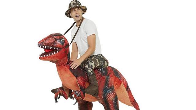 Inflatable Riding a T-REX Dinosaur Costume (photo courtesy Amazon)