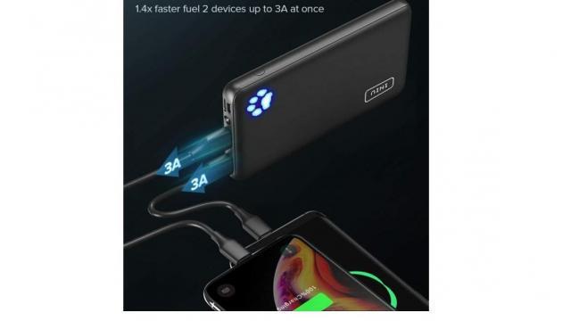 Portable Charger 10000mah Dual USB Power Bank (photo courtesy Amazon)