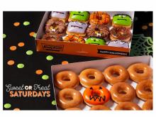 Krispy Kreme Scary Sweet Monster Doughnuts & Sweet-or-Treat dozen (photo: Business Wire)