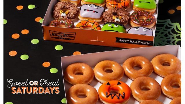 Krispy Kreme Scary Sweet Monster Doughnuts & Sweet-or-Treat dozen (photo: Business Wire)