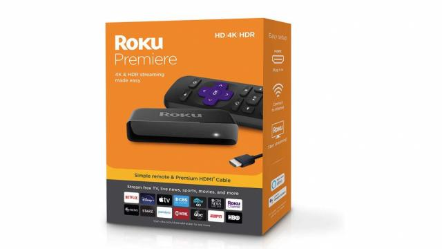 Roku Premiere HD/4K/HDR Streaming Media Player (photo courtesy Amazon)