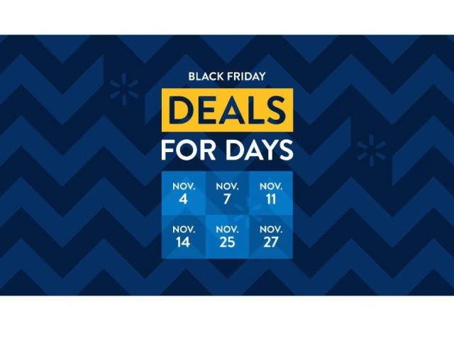 Walmart has announced that they are reinventing Black Friday this year with 3 different savings events instead of the usual single event held each year during the Thanksgiving holiday. Read on for the schedule of sales and featured products.