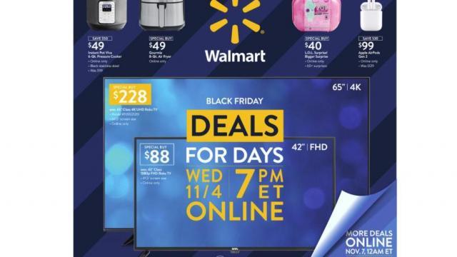 Walmart Black Friday Ad for Nov. 4 2020 (photo courtesy Walmart)