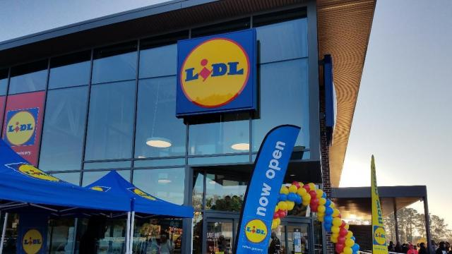 Lidl Store Front (photo credit: Faye Prosser)