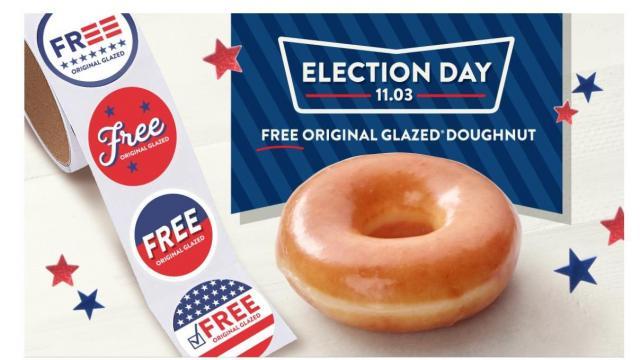 Krispy Kreme Election Day Offer (photo courtesy Krispy Kreme)