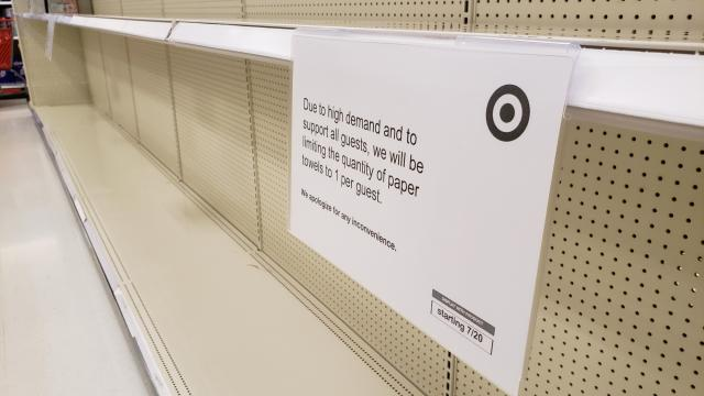 Target limiting sales of paper products