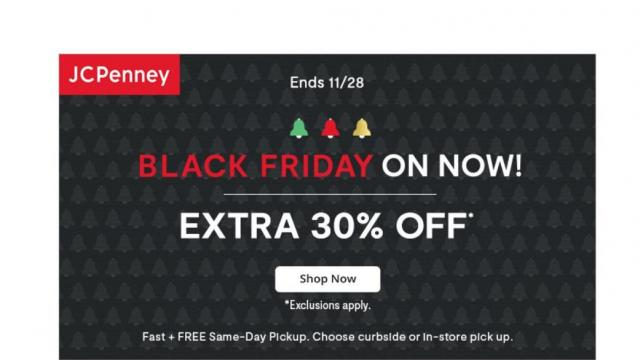 JCPenney Black Friday Sale (photo courtesy JCPenney)