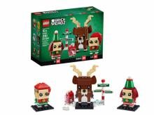 LEGO Brickheadz Reindeer, Elf and Elfie Building Toy (photo courtesy Amazon)