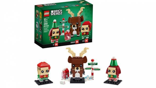 LEGO Brickheadz Reindeer, Elf and Elfie Building Toy (photo courtesy Amazon)