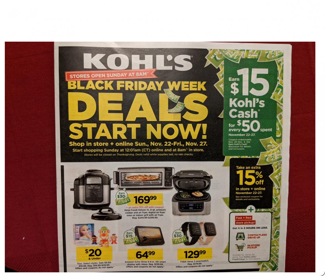 New Kohl S Black Friday Sales Are Live Now Toys 50 Off Clothing Up To75 Off Jewelry 15 Kohl S Cash Wral Com