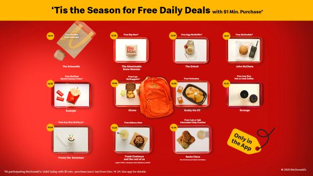 McDonald's Free Daily Deals (photo courtesy McDonald's)