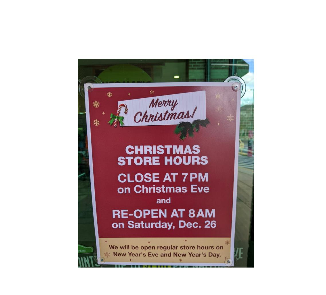 Christmas Day Hours For Grocery Restaurants And Retail Wral Com