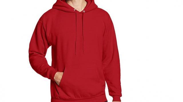 Hanes Mens Pullover Ecosmart Fleece Hooded Sweatshirt (photo courtesy Amazon)