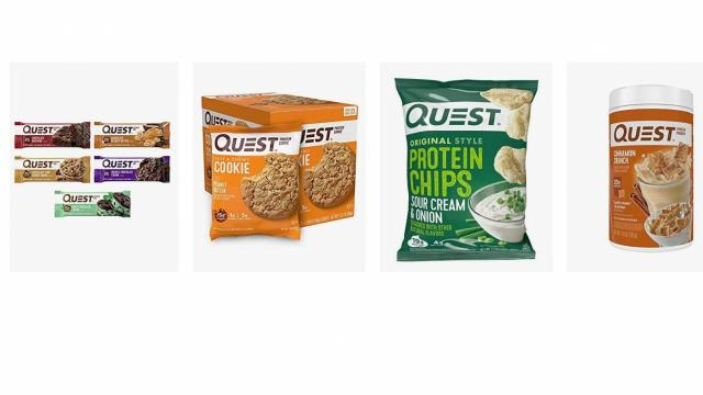 Quest Nutrition products (photo courtesy Amazon)
