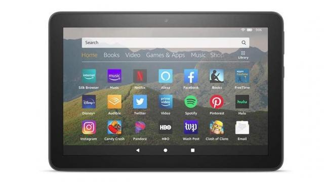 "Fire HD 8 tablet, 8"" HD display (photo courtesy Amazon)"