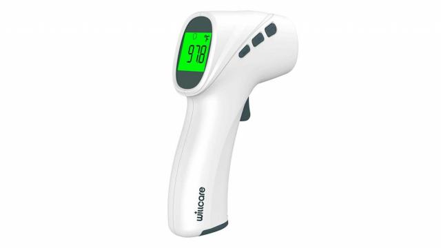 Touchless Infrared Forehead Thermometer (photo courtesy Amazon)