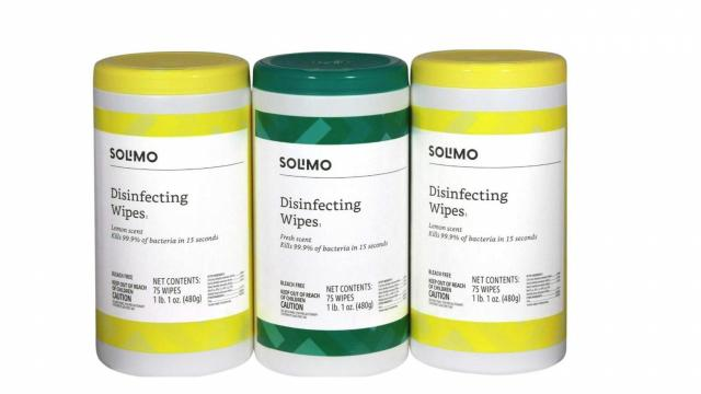 Amazon Brand Solimo Disinfecting Wipes (photo courtesy Amazon)