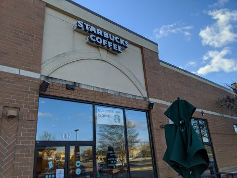 Starbucks in outparcel building at Cary Towne Center, Cary, NC
