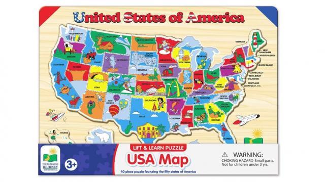 USA Map Puzzle (photo courtesy Amazon)