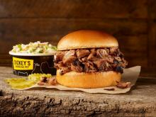 Dickey's Barbecue Pit Sandwich and Side (photo courtesy Dickey's Barbecue Pit)