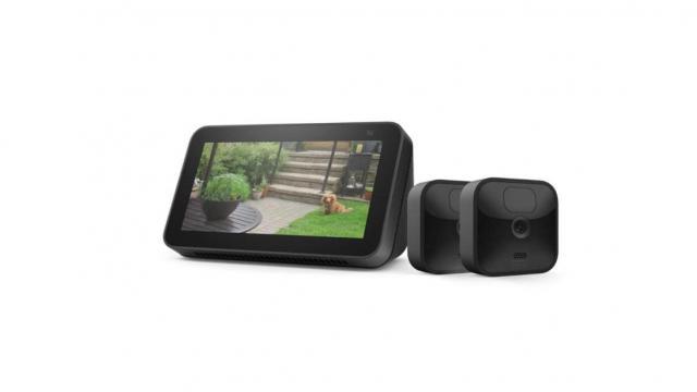 بسته Blink Outdoor 2 Cam Kit با Echo Show 5 (2nd Gen) - حسن نیت ارائه می دهد عکس آمازون