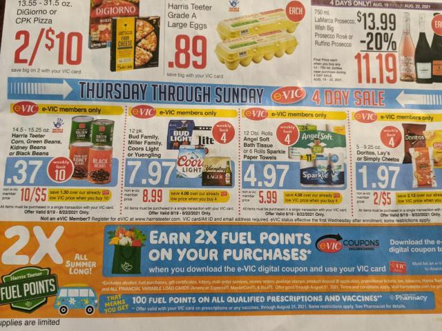 Harris Teeter 4-day sale & new e-Vic deals: Free yogurt, canned veggies, beans, Doritos :: WRAL.com