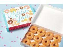 Krispy Kreme World Gratitude Week Dozen (photo courtesy Krispy Kreme)