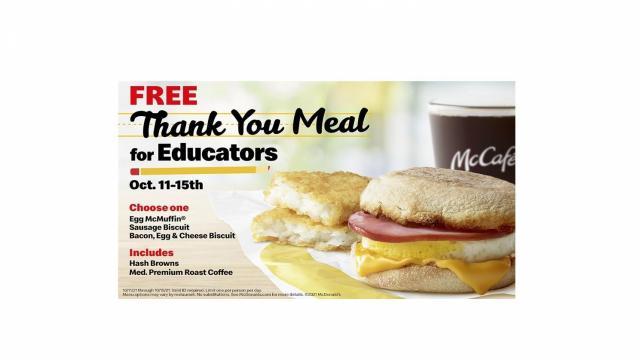 McDonald's Educator Offer (photo courtesy McDonald's)