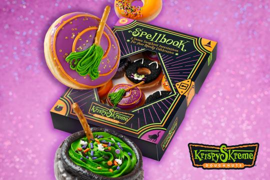 Krispy Skreme Spellbook Dozen Box (photo courtesy Krispy Kreme)