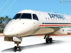 A 50-seat jet to be flown by ExpressJet out of RDU.