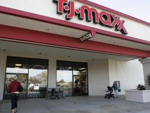 The exterior view of a T.J. Maxx store in Redwood City, Calif., is seen in this Nov. 15, 2005 file photo. TJX Cos., operators of Marshall's and T.J. Maxx discount retail stores, said Wednesday a security breach into its computer systems was more extensive than previously reported. (AP Photo/Paul Sakuma, file)