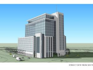 Planned North Hills East tower. Rendering provided by Duke Realty and Kane Realty.
