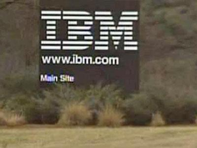 The IBM sign at the Research Triangle Park.
