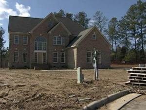 This house in the Waterford Estates development in Cary is one of more than 40 St. Lawrence Homes projects in the Triangle that remains unsold.