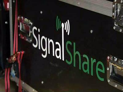Cary-based Signal Share provides free wireless Internet connections at major concerts and sporting events.