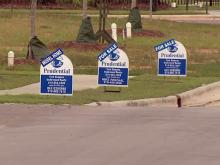 For sale signs, home sale