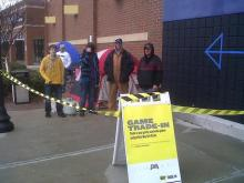 The first people in line outside the Best Buy store in Garner said they had been there since 9:30 p.m. Wednesday, Nov. 25, 2010. The line had grown to about a half-dozen people by Thursday afternoon.