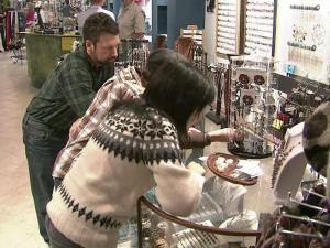 Cameron Village lured shoppers to small, local businesses to begin their holiday shopping.