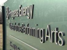 Progress Energy Center for the Performing Arts sign