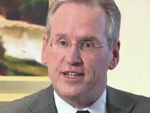 Progress Energy CEO Bill Johnson will become chief executive of Duke Energy after the Charlotte-based utility acquires Raleigh-based Progress.