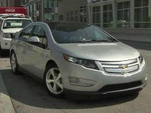 Brian Shrader tries out electric car
